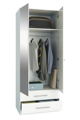 Шкаф Ланс-23 Белый, открытый