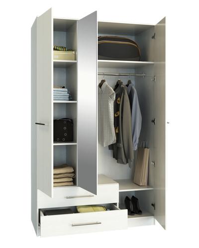 Шкаф Ланс-53 Белый, открытый
