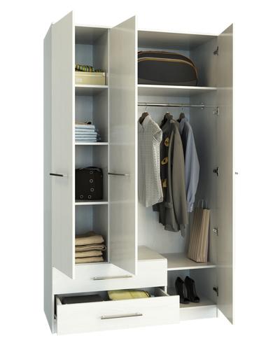 Шкаф Ланс-5 Белый, открытый